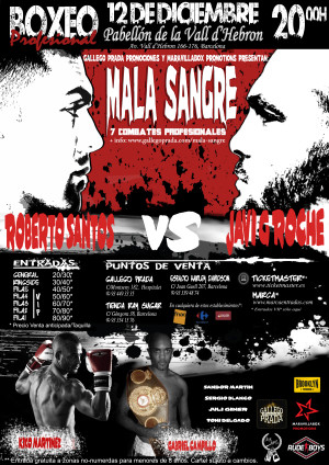 Mala Sangre: cartel velada boxeo barcelona