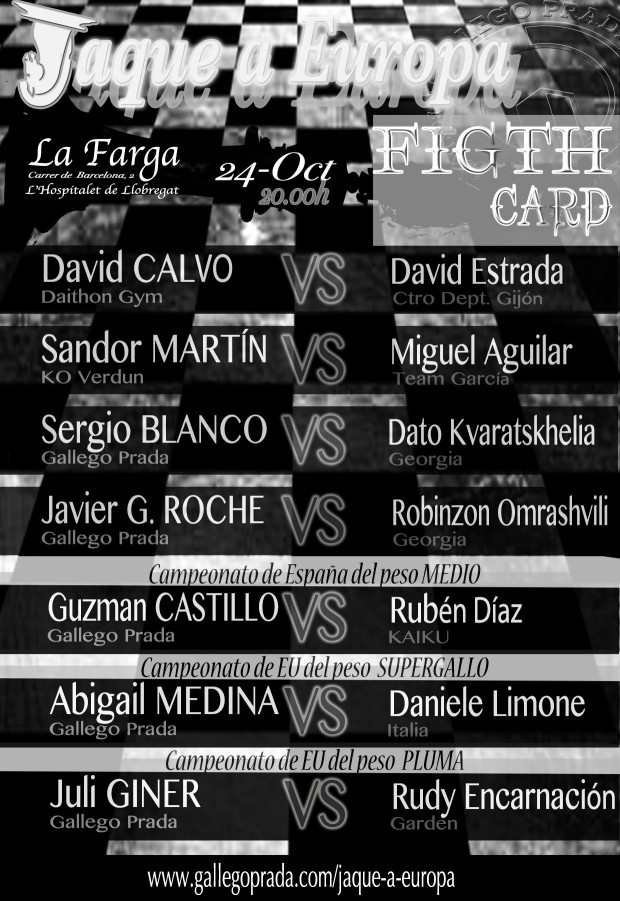 Fight Card Jaque A Europa