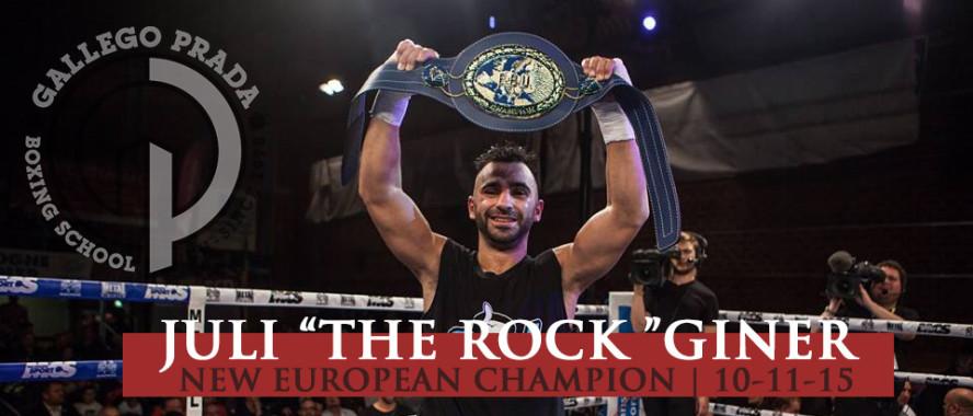 Juli Giner Nuevo Campeón de Europa