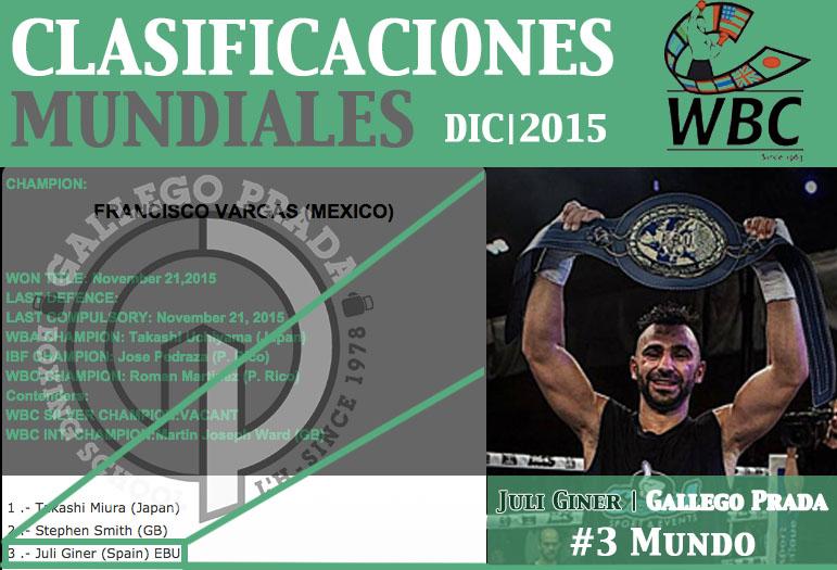 Juli Giner entra en el #3 WBC