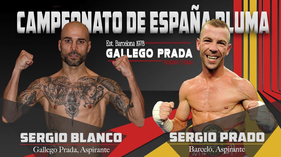 Sergio Blanco (Gallego Parada) Campeonato de España Boxeo Profesional contra Schuster