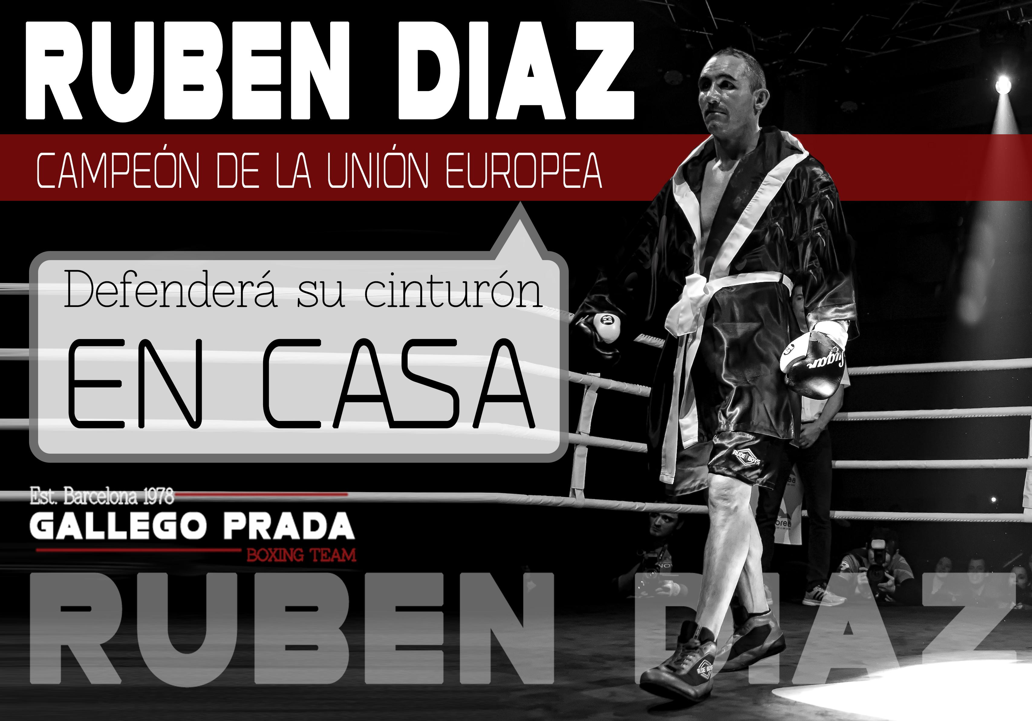 Rubén Díaz defenderá en casa